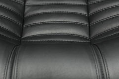 Leather texture in black color Royalty Free Stock Image
