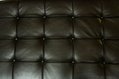 Leather Texture. Black leather texture detail with shallow depth of field Stock Images