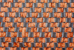 Leather Texture. Brown Wickerwork leather texture background Royalty Free Stock Photo