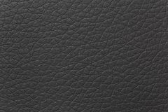 Leather texture. Detail of black leather texture stock photos