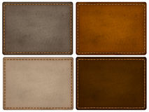 Leather texture labels Royalty Free Stock Photos