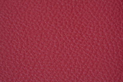 Leather texture. Natural red leather  texture closeup Royalty Free Stock Image