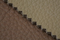 Leather texture. Natural leather stack texture closeup Stock Image