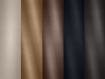 Leather texture palette samples Stock Photography