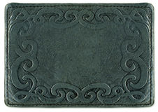 Leather texture with pattern frame. Backround in a vintage rock style Royalty Free Stock Photo