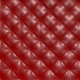 Leather texture. Red vintage leather upholstery texture Royalty Free Stock Images