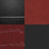 Leather texture set Stock Photo