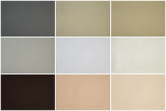 Leather texture set in multiple colors Stock Photography