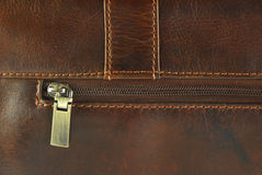Leather Texture With Seam Stock Image