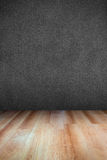 Leather textured wall and wooden floor Stock Photos