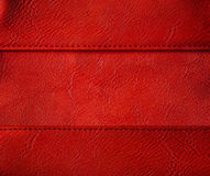 Leather Thread Seam Background, Red Stitched Clothing Texture Stock Images