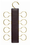 Leather tie hanger Royalty Free Stock Photos