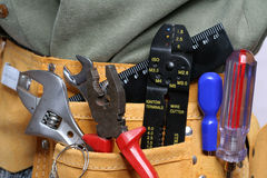 Leather tool belt Royalty Free Stock Photography
