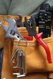 Leather tool belt Stock Photos