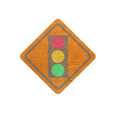 Leather ,Traffic lamp banner Royalty Free Stock Photography
