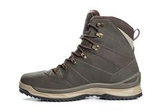 Free Leather Trekking Winter Boots Isolated Stock Image - 148211831