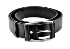 Leather trouser belt Royalty Free Stock Images