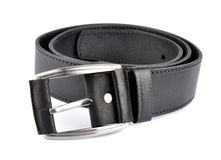 Leather trouser belt Royalty Free Stock Image