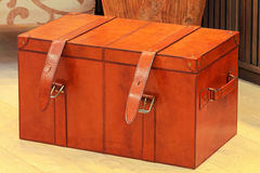 Leather trunk Royalty Free Stock Photography