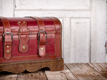 Leather trunk or chest Royalty Free Stock Photos