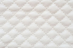 Leather upholstery. Genuine leather upholstery white texture Royalty Free Stock Photography