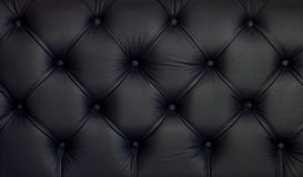 Leather upholstery. Detailed texture of creased black leather upholstery Royalty Free Stock Photos