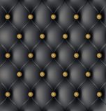 Leather Upholstery Background. Black Modern Leather Upholstery Background Royalty Free Stock Photos