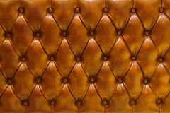 Leather upholstery background. Genuine leather upholstery background for a luxury decoration Royalty Free Stock Photo