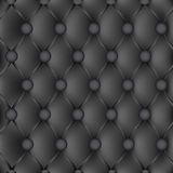Leather upholstery. Black upholstery leather pattern background Stock Photo