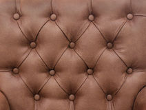 Leather upholstery brown Stock Photos