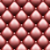 Leather upholstery with buttons. Luxury background. Stock Photos