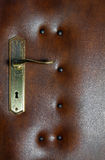 Leather upholstery door - detail Stock Photos
