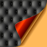 Leather upholstery with glossy curled corner royalty free illustration
