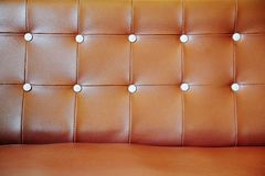 Leather upholstery of a magnificent sofa Royalty Free Stock Photos