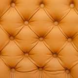 Leather upholstery old red sofa Stock Photography