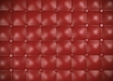 Leather upholstery pattern. Red leather upholstery pattern. 3D rendered image Royalty Free Stock Photography