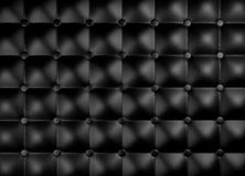 Leather upholstery pattern. Black leather upholstery pattern. 3D rendered image Royalty Free Stock Photo