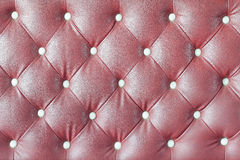 Leather upholstery of a  sofa Stock Images
