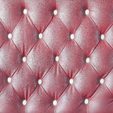Leather upholstery of a  sofa Stock Photos