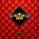 Leather upholstery. Vector illustration. Royalty Free Stock Images