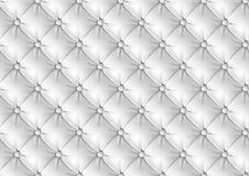 Leather Upholstery. White Leather Upholstery Seamless Pattern Stock Photos