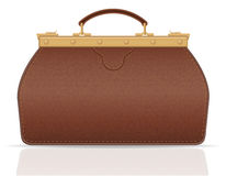 Leather valise travel with constipation vector illustration Stock Photography