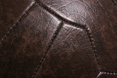 Leather vintage football background Royalty Free Stock Photo