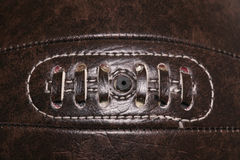 Leather vintage football background Royalty Free Stock Image