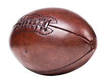 Leather vintage football Royalty Free Stock Photo