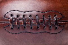 Leather vintage football Royalty Free Stock Images