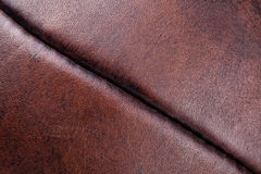 Leather vintage football detail Royalty Free Stock Photo