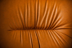 Leather vintage sofa detail - macro shoot Stock Image
