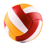 Leather volleyball isolated on a white background Royalty Free Stock Photography