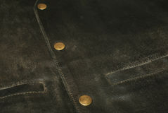 Leather Waist. Detail of brown leather waist with buttons stock images